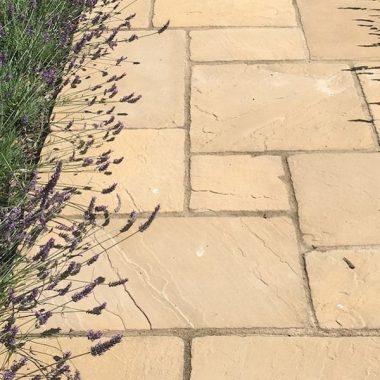 ריצוף חוץ מודולרי אבן טבעית מיקס של עד 5 מידות