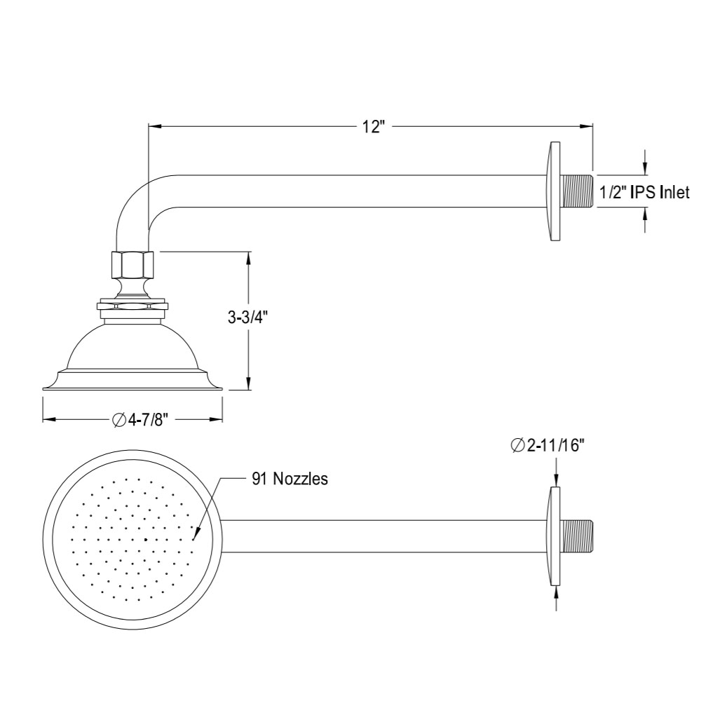 ראש ברז אמבטיה מצב זרימה 1 גימור כרום מלוטש גוון אפור