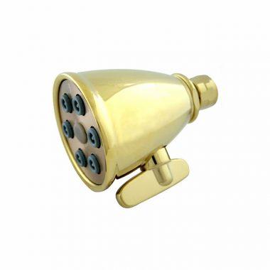 ראש מקלחת בעל מצבי זרימה משתנים גימור פליז מלוטש גוון צהוב